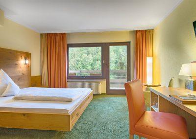 Komfort Einzelzimmer mit Blick auf den Schwarzwald